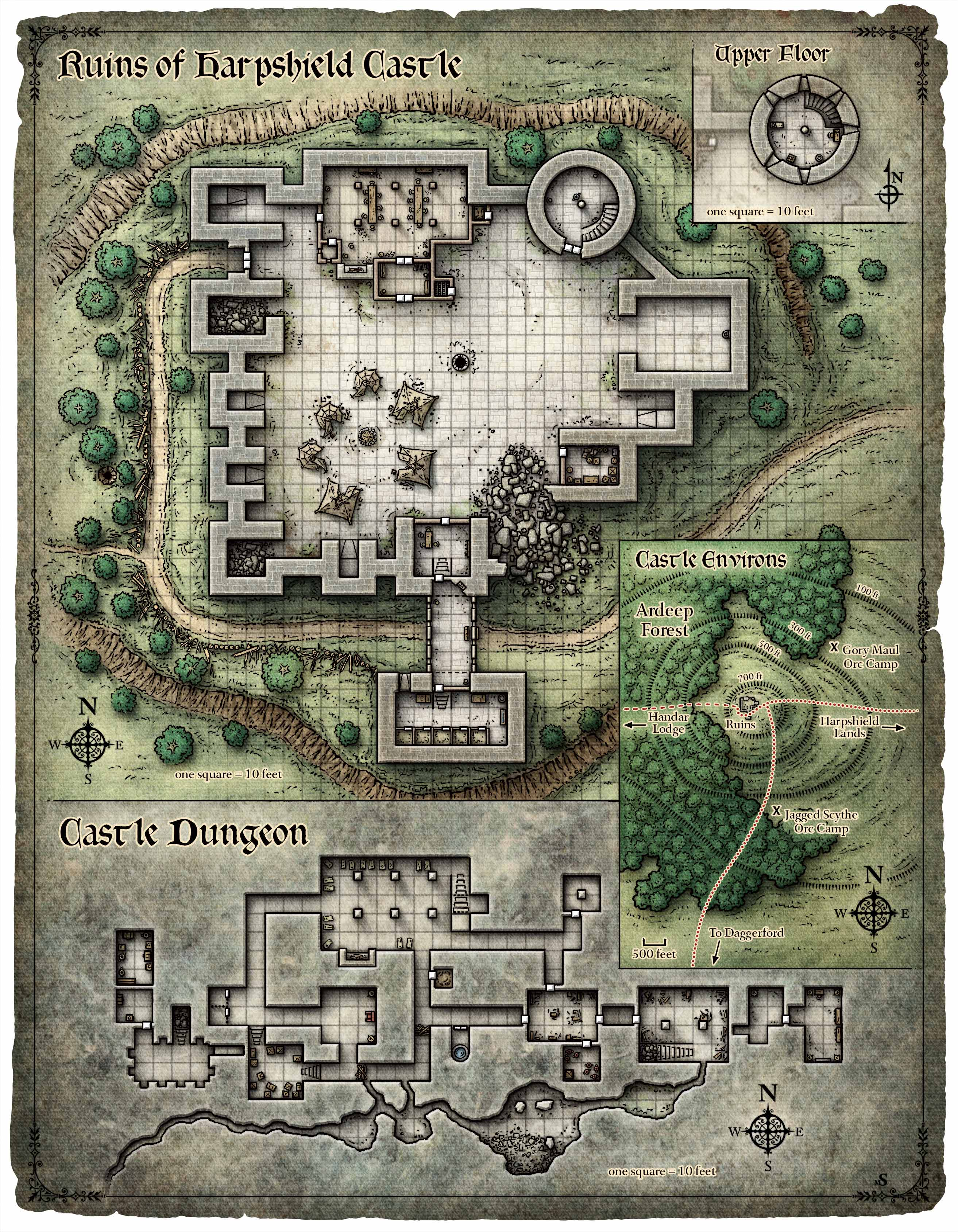 Cartes/Maps » Dungeons & Dragons - Donjons & Dragons - D&D 5
