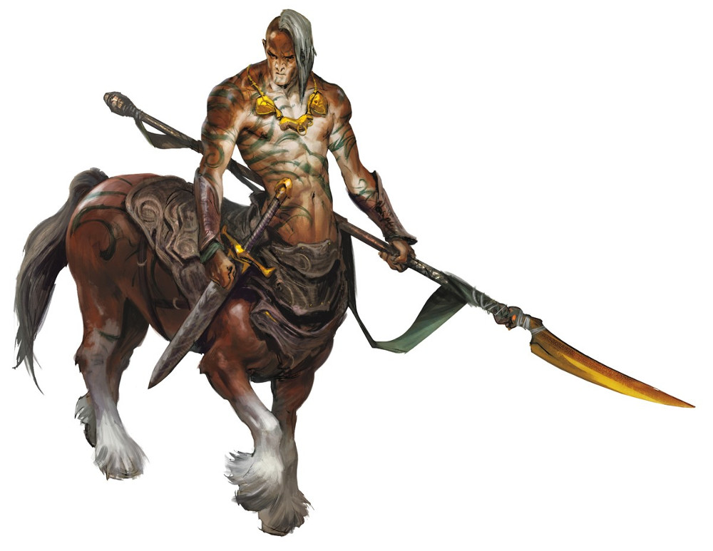 the centaur The word, centaur, is deriven from the original greek word, kentauros, and is generally regarded as of obscure origin, though in myth the name is based on centaurus, who was said to be the father of the centaur race.