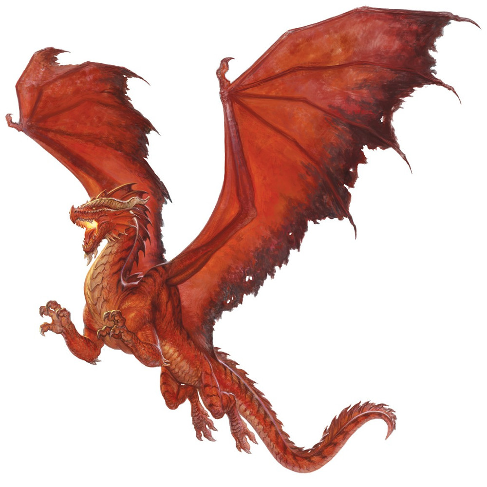Dragon rouge, jeune
